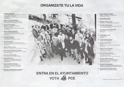 Vota PCE: entra en el ayuntamiento. -- Toledo: PCE, D.L. 1979