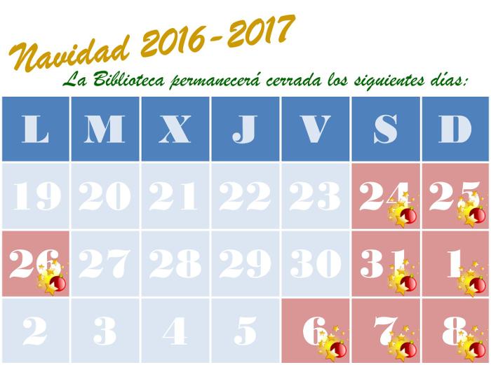 Calendario de Navidad 2016-2017