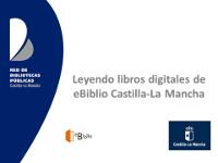 Leyendo libros digitales en eBiblio Castilla-La Mancha