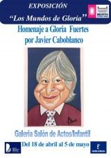 Cartel Exposición los mundos de Gloria