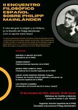 II Encuentro Filosófico Español sobre Philipp Mainländer