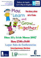 Cartel Let´s Play in English