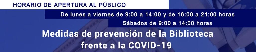 Horario y medidas de prevención COVID-19