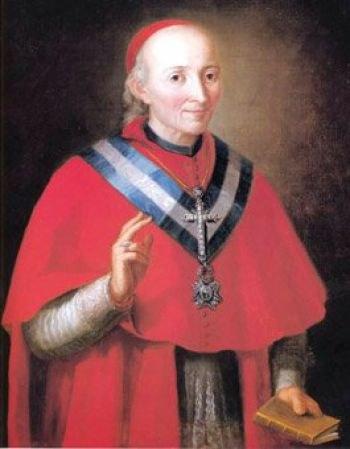 Retrato del Cardenal Lorenzana realizado por Dionisio Palomares